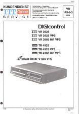 ITT Original Service Manual für Video VHS-HiFi Digicontrol VR 3928/3968 TR 4928
