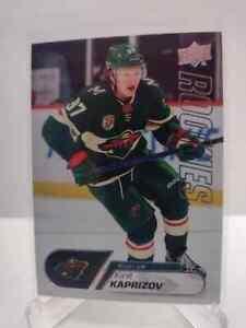 2020-21 Upper Deck NHL Kirill Kaprizov Rookies Card #25 Minnesota RC Rookie