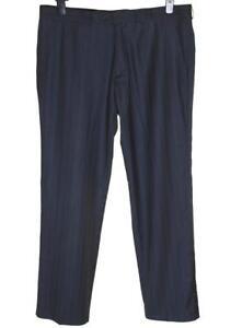 "Analytisch New Men's Daniel Christian Formal Trousers W36"" L32"" 36r Grey Striped 100% Garantie"