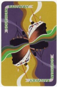Playing-Cards-1-Single-Card-Old-SOUTHERN-RAILWAY-Shipping-Ferry-Ship-Advertising