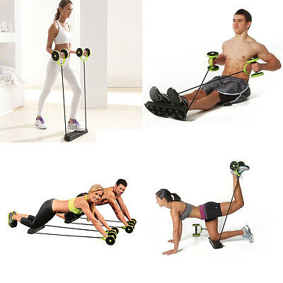 Home Gym Abs Roller Exercise Body Fitness Abdominal Training Workout Machine