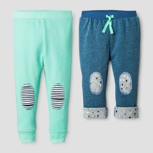 Oh Joy Green 0-3M Baby Denim//Mint 2pk Pant Set