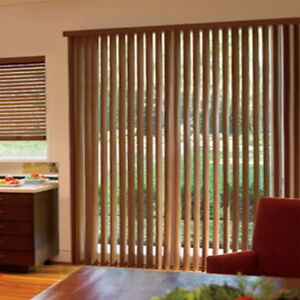 Blindden Woodlook Faux Wood Vinyl Vertical Blinds Custom