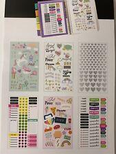 Calendar Planner Bullet Journals Stickers 348 Unicorns Hearts Rainbows New