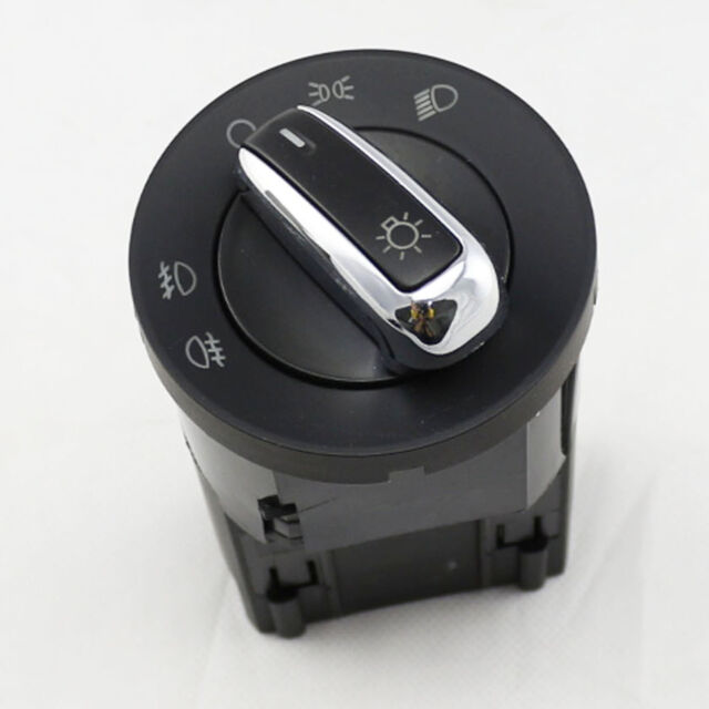 CHROME HEADLIGHT SWITCH CONTROL for VW JETTA GOLF MK4 BEETLE PASSAT B5 B5.5 BORA
