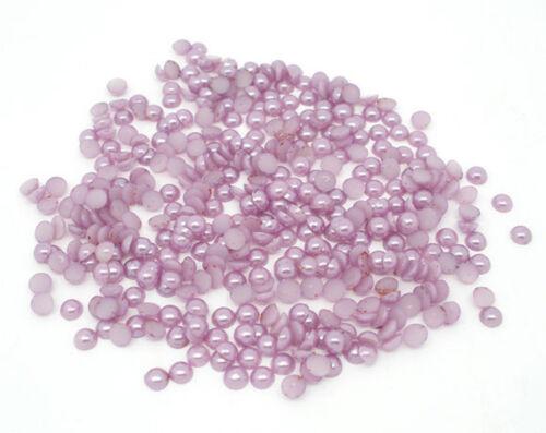 50 Stück Flieder Halbperlen Acryl 4mm zum Basteln Scrapbooking lose Perlen