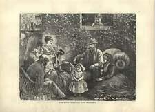 1871 The Rival Grandpa And Grandma's Old Print
