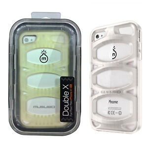 quality design 2301c 00933 Details about Musubo Double X Shock Absorbing Case with Video Stand For  iPhone 4/4s - Clear
