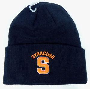 SYRACUSE-ORANGEMEN-NAVY-NCAA-BEANIE-TOP-OF-THE-WORLD-KNIT-SKI-CAP-HAT-NWT