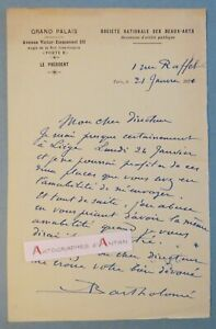 L-A-S-1921-Albert-BARTHOLOME-Peintre-Sculpteur-GRAND-PALAIS-Liege-Thiverval