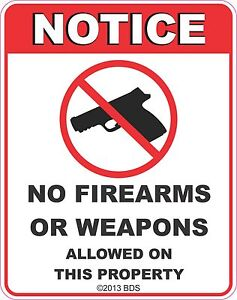 No-Firearms-Or-Weapons-Allowed-Sign-Vinyl-Sticker-Decal