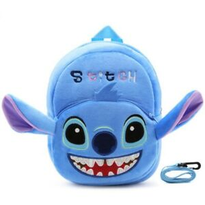 Cute-Disney-Stitch-Anti-Lost-Traction-Rope-BackPack-Cartoon-Coral-Fleece-Bag