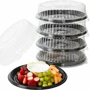 Large Plastic Catering Tray w/Dome Lid Stackable Party Platters by Avant Grub