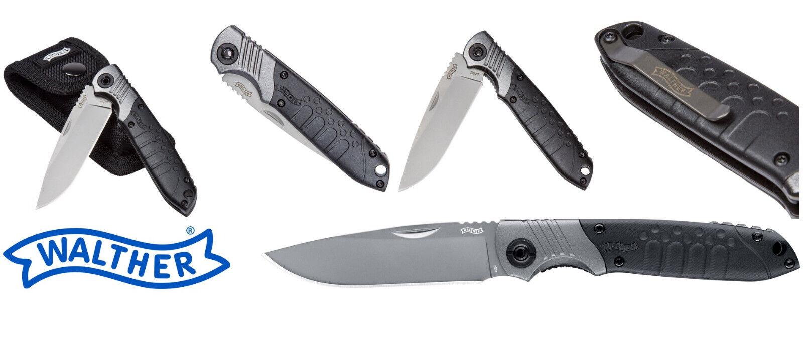 WALTHER 5.0718 5.0718 5.0718 MTK Messer Zange Bitset Etui + EDK 5.0775 Holster Clip Knife NEU 1353d0