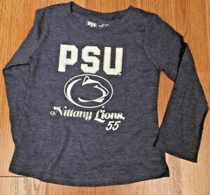 06aedd6c NCAA PENN STATE NITTANY LIONS TODDLER LONG SLEEVE SHIRT SIZE 3T NEW ...