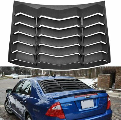 Yoursme Rear Window Vent//Louvers Fits for Mercury Milan /& Ford Fusion 4 Door Sedan 2006 2007 2008 2009 2010 2011 2012 Black