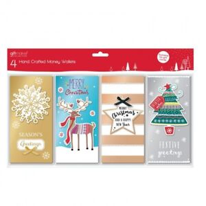 4-PACK-HAND-CRAFTED-CHRISTMAS-MONEY-WALLETS-CONTEMPORARY-DESIGN-SANTA-XMAS-GIFT