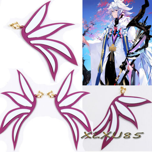 Fate Grand Order Lancer Merlin Earrings Cosplay Prop Accessories 15cm Halloween