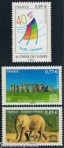 SERVICES-CONSEIL-DE-L-039-EUROPE-UNESCO-de-2012-NEUFS-n-153-a-155