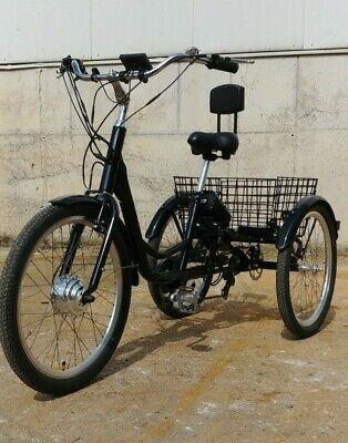24 Zoll Elektro Dreirad Damon 2 Erwachsene Rückenlehne E-bike Mit Daumengasgriff