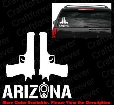 ARIZONA COLT 1911 Barrel Sticker Car Windows Decal Vinyl 2A CCW Gun Rights FA053