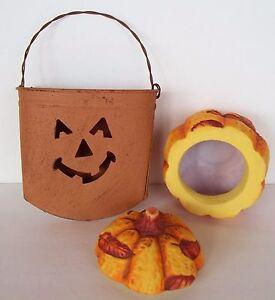 2-Halloween-Thanksgiving-Fall-Autumn-Decorations-Tin-Hanging-Pumpkin-Leaves-2001