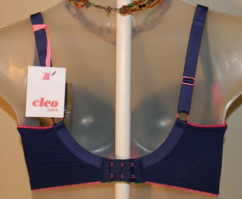 Pink 32K US Cleo by Panache 9141 Riley Moulded Balconette Bra Navy Blue