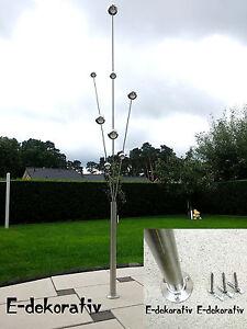 Gartenstecker edelstahl deko garten deko skulptur - Edelstahl deko garten ...
