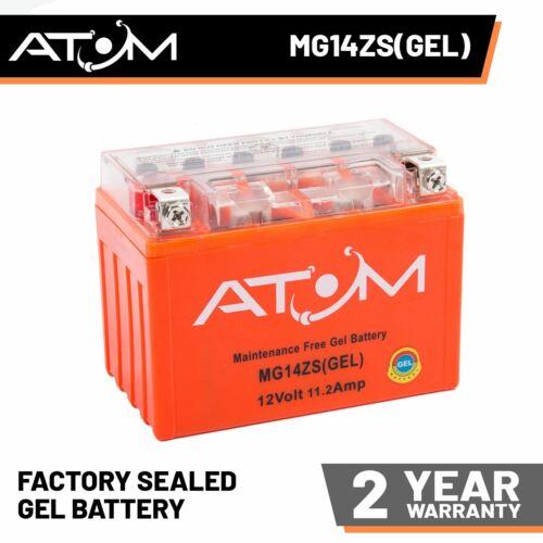 YTZ14S Atom Gel Motorcycle Battery 12V 11.2Ah for Honda VT 750 DC Shadow 07-08