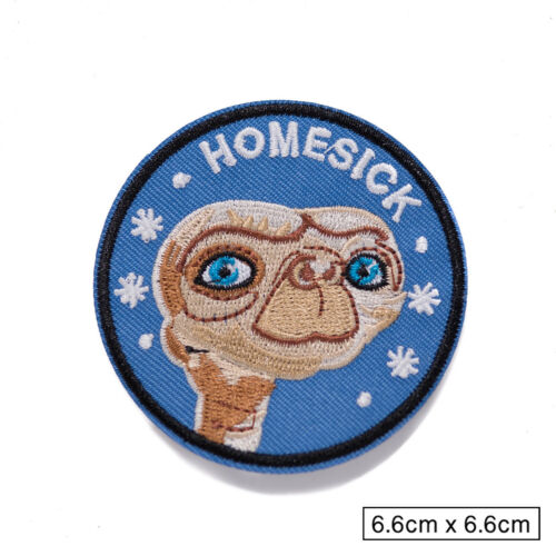 Embroidered Homesick Alien Sew On Iron On Blue Patch Badge Fabric Craft Transfer