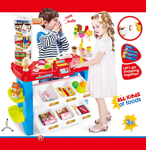 Childrens-Kids-Sweet-amp-Dessert-Shop-Counter-Role-Play-Set-40-Pieces-Toy-Food-253