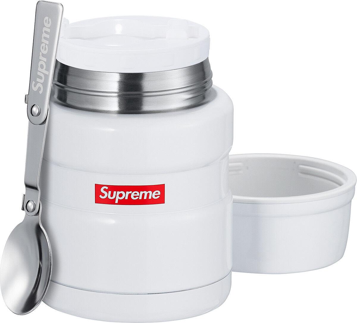 Supreme Thermos Stainless King Food Jar et cuillère Scellé Accessoires box logo
