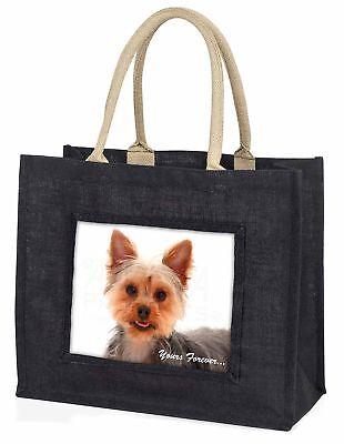 Yorkie Hund  dir für immer  große schwarze Einkaufstasche Weihnachtsgeschenk,