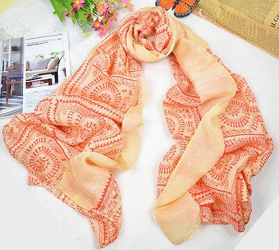 Womens Ladies Fashion Stylish Chiffon Soft Scarves Long Wraps Shawl Winter Scarf