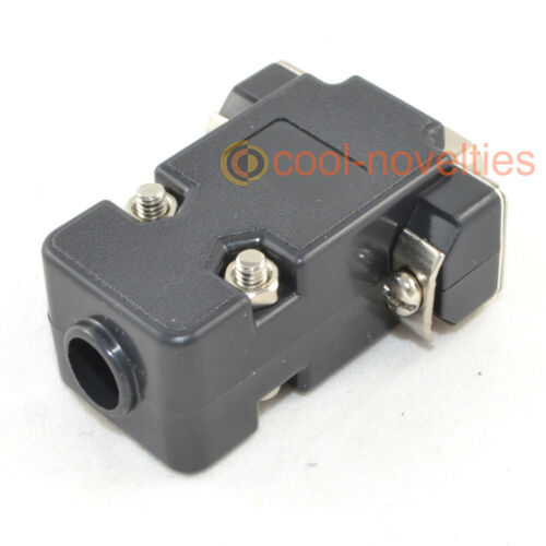 DB15HD 15 modo D SUB VGA FEMMINA HD SOCKET CONNETTORE CON CAPPUCCIO NERO Shell