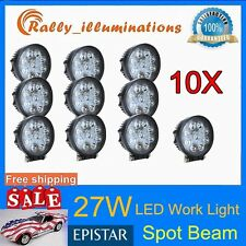 10X_27W Spot LED WORK LIGHT FOG DRIVING BOAT EPISTAR TRUCK UTE SUV 4WD 12V 24V