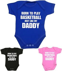 a51c1b051db2 Image is loading BabyPrem-Baby-Clothes-BASKETBALL-Daddy-Bodysuit-One-Piece-