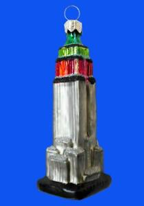 MINI EMPIRE STATE BUILDING EUROPEAN BLOWN GLASS CHRISTMAS ...