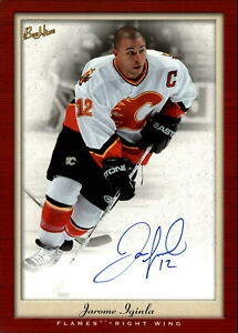 2005-06-FLAMES-Beehive-PhotoGraphs-PGJI-Jarome-Iginla-AUTO