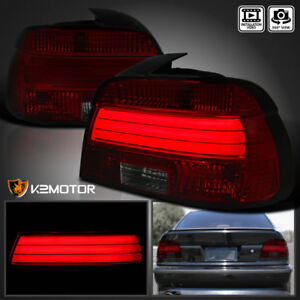 Details About 2001 2003 BMW E39 5 Series M5 525i 530i 540i Red Smoke Lens LED Tail Lights