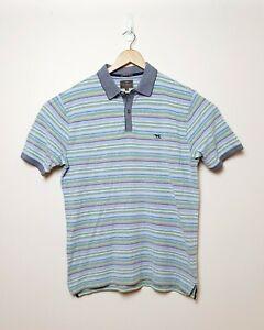 Rodd-amp-Gunn-Mens-Size-L-Pastel-Colored-Striped-Short-Sleeve-Polo-Shirt