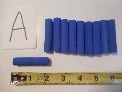 "12 BLUE FOAM POPPERS 1//2/"" FOAM CYLINDERS SKILTON LIVE BODY FLY TYING MATERIALS"