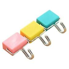 All Purpose Magnetic Hooks Pastel Pink Yellow Blue 3 Pack