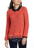 Anthropologie Knitted & Knotted Lace Hem Pullover Size Xs & M
