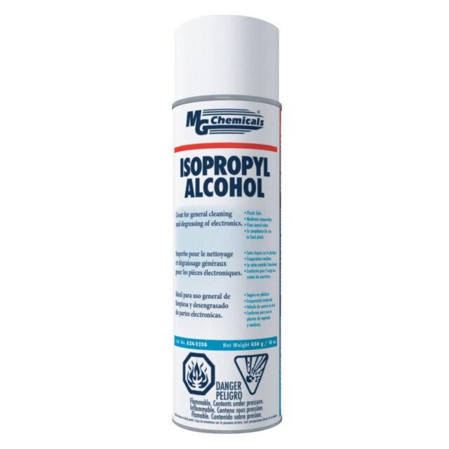MG Chemicals 824 99 9 Isopropyl Alcohol Liquid Cleaner 16oz Aerosol Can  Clear