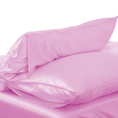 Silk Pillowcase Simulation Silk Soft Pillowcase 8 Colors DIY Home Decor