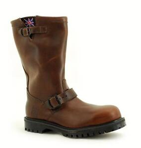 Diszipliniert Premium Nps Made In England Chocolate Horse Biker Boot Steelcap Ns011-x11000ch 100% Garantie