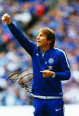 manager Chelsea Antonio Conte signed autograph photo poster print Framed MDF