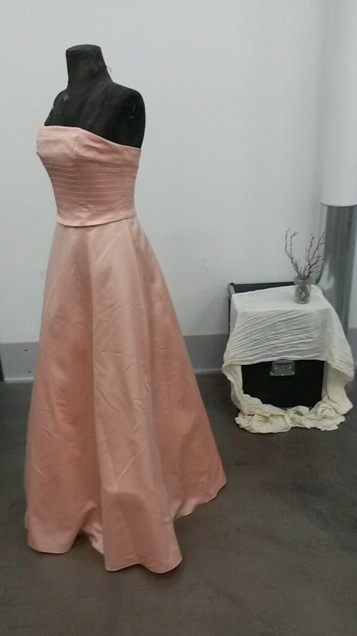 Ballkleid Abendkleid lachs Rosa apricot Abiballkleid Verlobungskleid prom dress