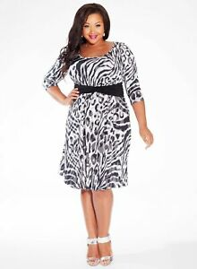 Igigi-Women-039-s-Dress-Black-White-18-20-Selby-Style-Made-In-USA-2X-Work-Date-Night